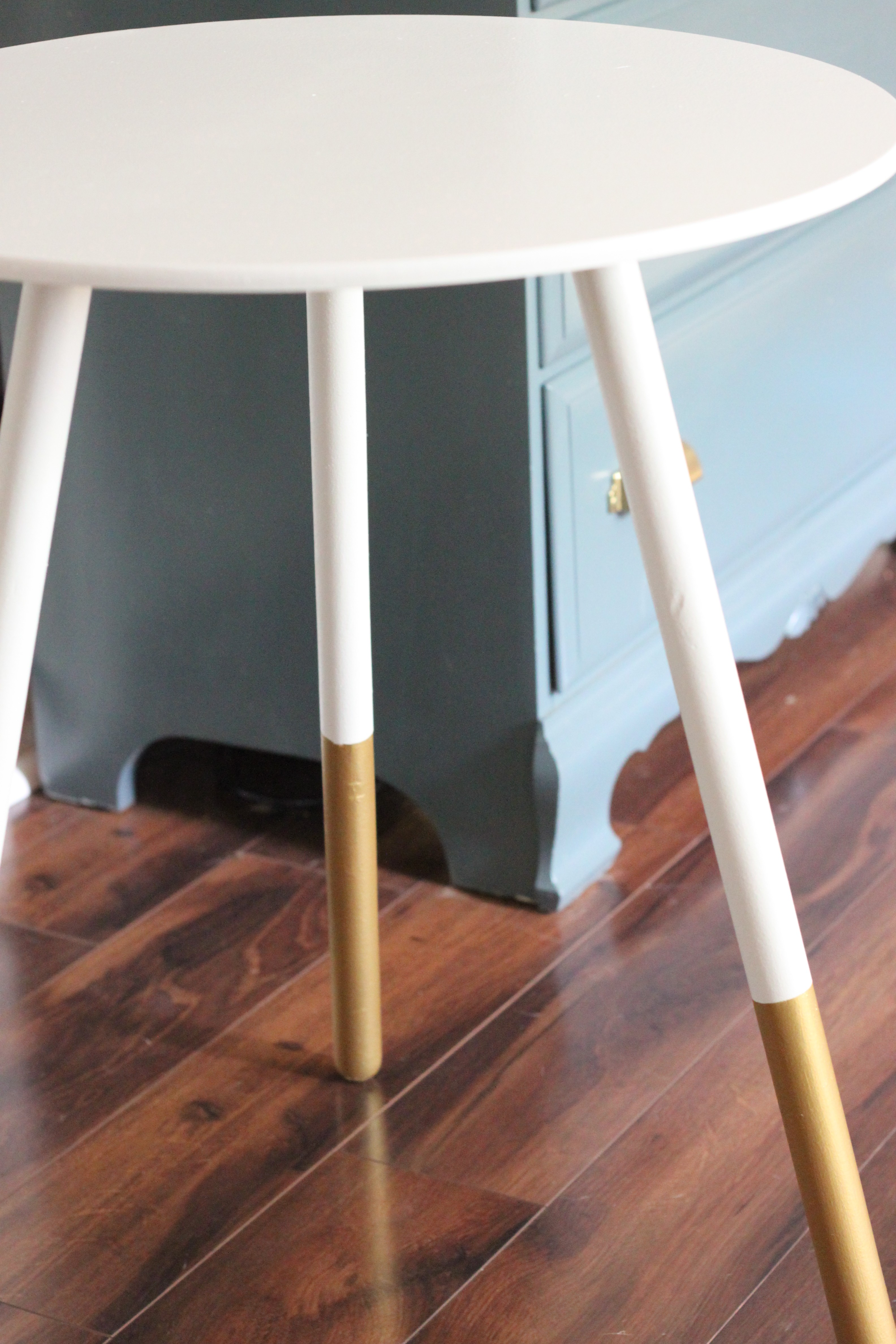 Diy Dipped Side Table
