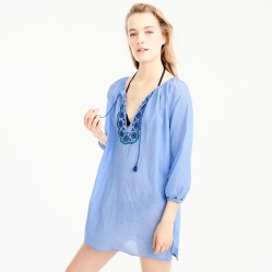 j crew blue cover up