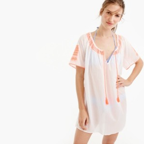 j crew white cover up